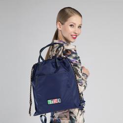 Damski plecak ze ściągaczem, granatowy, 90-4Y-301-7, Zdjęcie 1