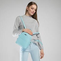 Damski plecak na cienkich paskach, niebieski, 90-4Y-701-N, Zdjęcie 1