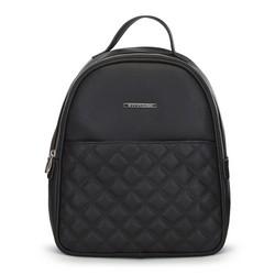 Damski plecak z pikowaniem, czarny, 91-4Y-705-1, Zdjęcie 1