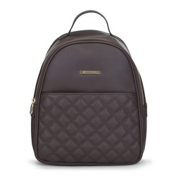 Women's backpack, brown, 91-4Y-705-4, Photo 1