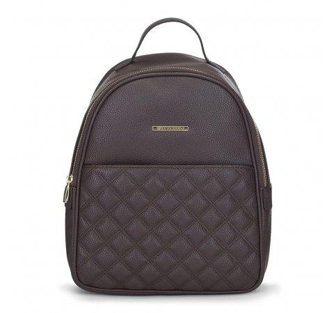 Damski plecak z pikowaniem, Brązowy, 91-4Y-705-4, Zdjęcie 1
