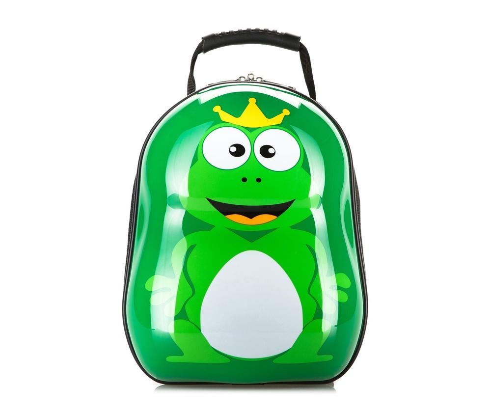 Рюкзак детскийРюкзак из коллекции Travel Kids, изготовлен из очень прочного полиэстера, который используется в производстве пластиковых ABS чемоданов. Детский рисунок на передней стороне сделает рюкзак отличным дополнением для каждого ребенка. Особенности модели:  основное отделение на молнии.     Дополнительно:    удобная ручка;  лямки с регулируемой длиной.<br><br>секс: None<br>Цвет: зеленый<br>материал:: Поликарбонат<br>высота (см):: 34<br>ширина (см):: 28<br>глубина (см):: 17<br>объем (л):: 13<br>вес (кг):: 0,6