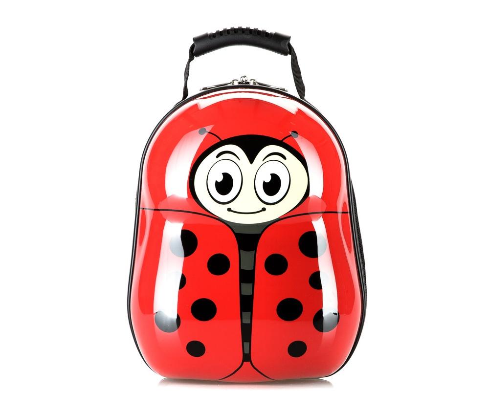 Рюкзак детскийРюкзак из коллекции Travel Kids, изготовлен из очень прочного полиэстера, который используется в производстве пластиковых ABS чемоданов. Детский рисунок на передней стороне сделает рюкзак отличным дополнением для каждого ребенка. Особенности модели:  основное отделение на молнии.     Дополнительно:    удобная ручка;  лямки с регулируемой длиной.<br><br>секс: None<br>Цвет: красный<br>материал:: Поликарбонат<br>высота (см):: 34<br>ширина (см):: 28<br>глубина (см):: 17<br>объем (л):: 13<br>вес (кг):: 0,6