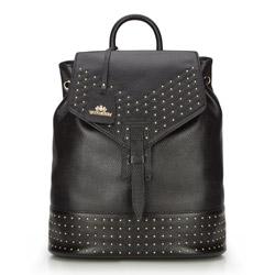Plecak damski, czarny, 86-4E-375-1, Zdjęcie 1