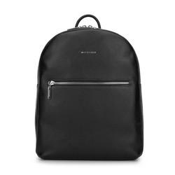Damski plecak ze skóry minimalistyczny duży, czarny, 93-4E-628-1, Zdjęcie 1
