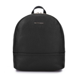 Damski plecak ze skóry minimalistyczny mały, czarny, 93-4E-629-1, Zdjęcie 1