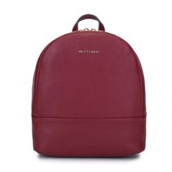 Damski plecak ze skóry minimalistyczny mały, bordowy, 93-4E-629-3, Zdjęcie 1