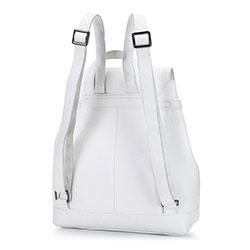 Damski plecak skórzany z łańcuchem, biały, 92-4E-307-0, Zdjęcie 1