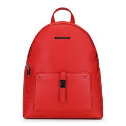 Damski plecak z kieszenią z przodu, czerwony, 29-4Y-003-3, Zdjęcie 1