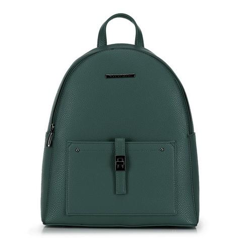 Damski plecak z kieszenią z przodu, szmaragdowy, 29-4Y-003-3, Zdjęcie 1