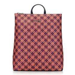 Damski plecak miejski, granatowo - pomarańczowy, 91-4Y-716-X1, Zdjęcie 1