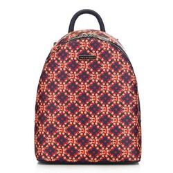Damski plecak miejski mały, granatowo - pomarańczowy, 91-4Y-717-X1, Zdjęcie 1