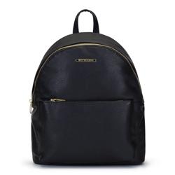 Damski plecak miejski z kolorową podszewką, czarny, 92-4Y-215-1, Zdjęcie 1