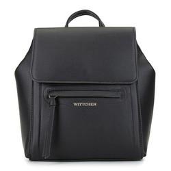 Damski plecak pudełkowy, czarny, 92-4Y-555-1, Zdjęcie 1