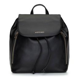 Damski plecak worek sznurowany, czarny, 92-4Y-561-1, Zdjęcie 1