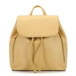 Damski plecak worek sznurowany, żółty, 92-4Y-561-Y, Zdjęcie 1