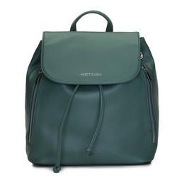 Damski plecak worek sznurowany, zielony, 92-4Y-561-Z, Zdjęcie 1