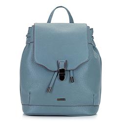 Damski plecak z tornistrowym zapięciem, błękitny, 92-4Y-615-7, Zdjęcie 1