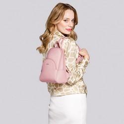 Damski plecak z półokrągłą kieszenią, jasny róż, 29-4Y-007-PE, Zdjęcie 1