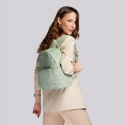 Damski plecak miejski z kolorową podszewką, jasna zieleń, 92-4Y-215-Z, Zdjęcie 1