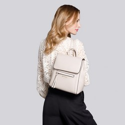 Women's structured backpack, beige, 92-4Y-555-0, Photo 1