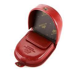Damski portfel skórzany w kształcie podkowy, czerwony, 21-2-156-3, Zdjęcie 1
