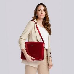 """Damski pokrowiec na laptopa 15,6"""" skórzany lakierowany, czerwony, 25-2-517-3, Zdjęcie 1"""