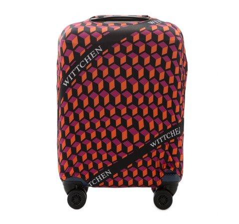 Pokrowiec na walizkę małą, pomarańczowo - czarny, 56-30-031-55, Zdjęcie 1