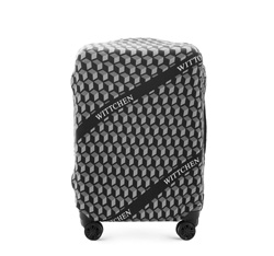 Pokrowiec na walizkę średnią, czarno - biały, 56-30-032-00, Zdjęcie 1