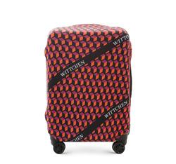 Pokrowiec na walizkę średnią, pomarańczowo - czarny, 56-30-032-55, Zdjęcie 1