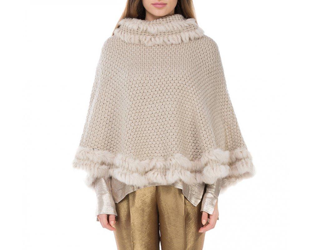 Пончо женскоеПончо женские, изготовленные из высококачественных материалов. Модель является прекрасной альтернативой для платка или шарфа, обеспечивая еще больший комфорт и защиту от непогоды.<br><br>секс: женщина<br>Цвет: бежевый<br>материал:: Акрил