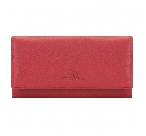 Duży skórzany portfel damski, czerwony, 02-1-052-5L, Zdjęcie 1