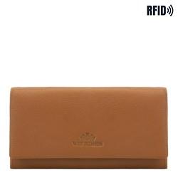 Duży skórzany portfel damski, jasny brąz, 02-1-052-5L, Zdjęcie 1