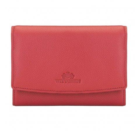 Damska portmonetka skórzana, czerwony, 02-1-062-1L, Zdjęcie 1