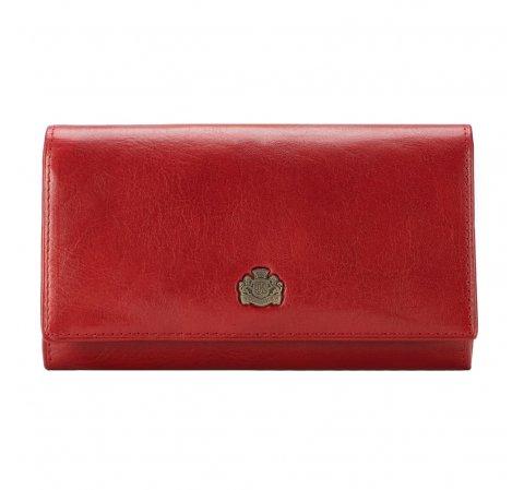 Damski portfel skórzany retro, czerwony, 10-1-036-1, Zdjęcie 1