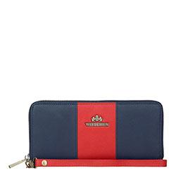 Portfel, granatowo - czerwony, 13-1-482-N3, Zdjęcie 1
