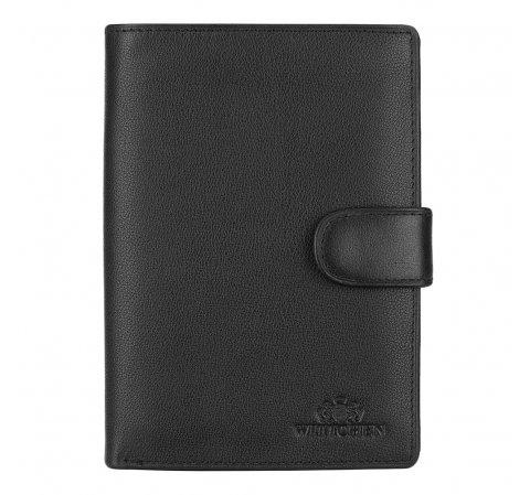 Męski portfel ze skóry klasyczny, czarny, 20-1-098-1, Zdjęcie 1