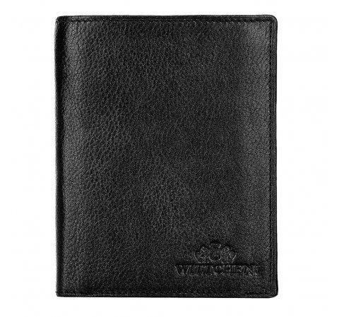 Męski portfel skórzany duży, czarny, 21-1-027-10L, Zdjęcie 1