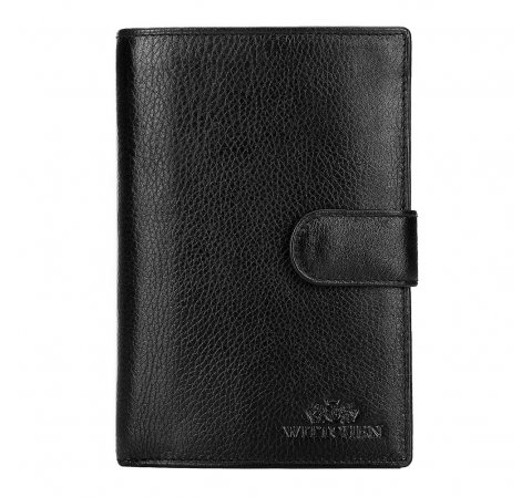Męski portfel skórzany z dużą ilością przegródek, , 21-1-035-10L, Zdjęcie 1