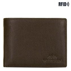 Męski portfel skórzany z ochroną kart, Brązowy, 21-1-046-40L, Zdjęcie 1