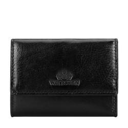 Damski portfel ze skóry na bigiel mały, czarny, 21-1-053-10, Zdjęcie 1