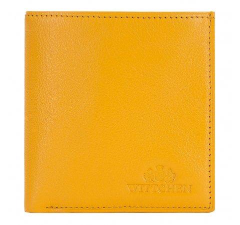 mały skórzany portfel damski, żółty, 21-1-065-YL, Zdjęcie 1