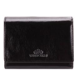 Damski portfel ze skóry średni, czarny, 21-1-070-10, Zdjęcie 1