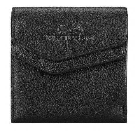 Męski portfel skórzany kwadratowy, czarny, 21-1-088-10L, Zdjęcie 1