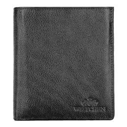 Męski portfel skórzany duży, czarno - srebrny, 21-1-139-10L, Zdjęcie 1