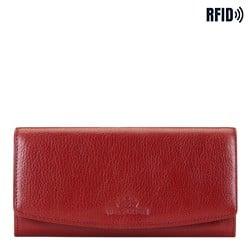 Duży skórzany portfel damski, czerwony, 21-1-234-3L, Zdjęcie 1