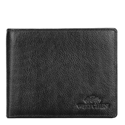 Men's leather tri-fold wallet, black, 21-1-262-10L, Photo 1