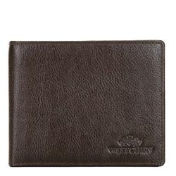Męski portfel skórzany z rozkładanym panelem, Brązowy, 21-1-262-40L, Zdjęcie 1