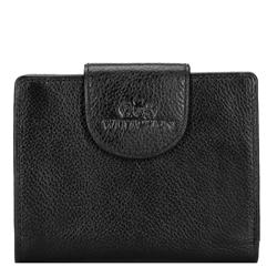 Damski portfel ze skóry klasyczny, czarny, 21-1-362-10L, Zdjęcie 1
