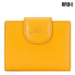 Damski portfel ze skóry klasyczny, żółty, 21-1-362-YL, Zdjęcie 1
